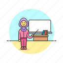 board, education, knowledge, learn, mathematics, science, study, teacher icon