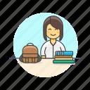 asian, education, female, student, university icon