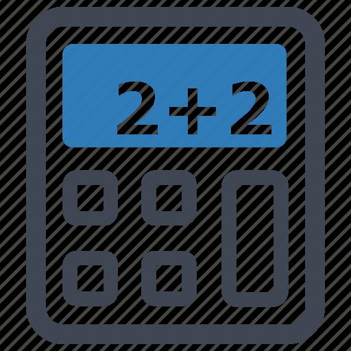 accounting, calculator, education icon