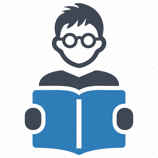 book, reading, student icon