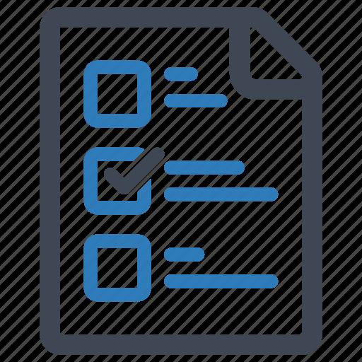 checklist, exam, school test, tasks icon