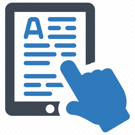 elearning, ereader, online study icon