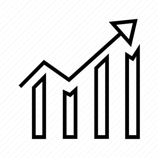 Statistics, finance, analytics, dashboard, report, bar chart icon