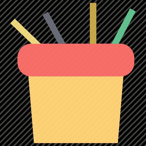 desk pots, pencil case, pencil holder, pencil pots, stationery case icon