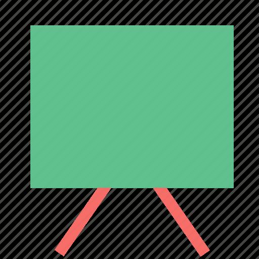 art board, easel, painting board, projection screen, whiteboard, writing board icon