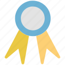 award, badge, champion, reward, ribbon badge, winner icon