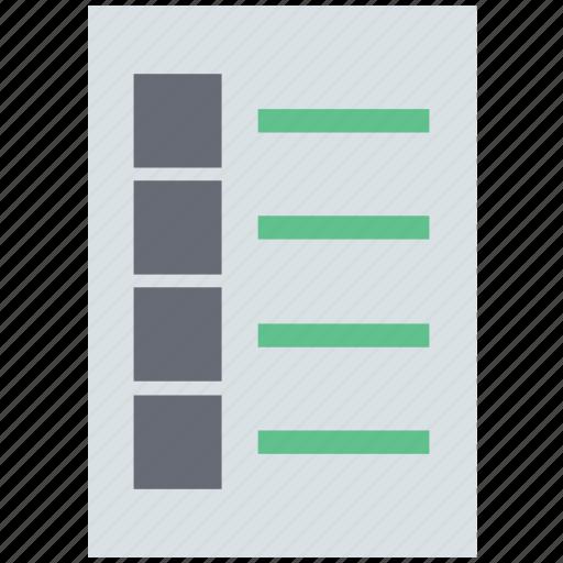 checklist, document, list, paper, sheet icon