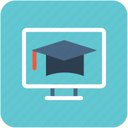 e learning, education, learning, online book, online study icon