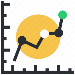 analytics, diagram, infographics, line chart, progress graph icon