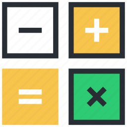 accounting, calculation, calculator, calculator keys, mathematical signs icon