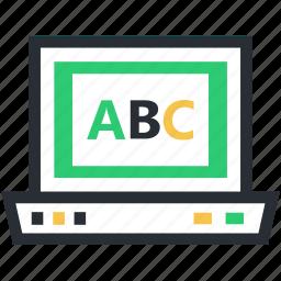 abc chart, alphabets, basic english, english class, kindergarten icon