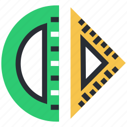 degree square, degree tool, geometry tools, measuring tool, protractor icon