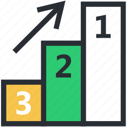 leaderboards, medal rostrum, podium, prize stage, sports podium icon