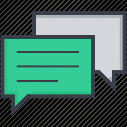 bubble, chatting, comments, communication, talk icon