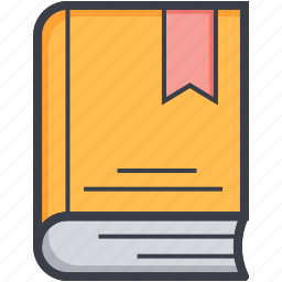 book, book with bookmark, bookmark, diary, diary book icon