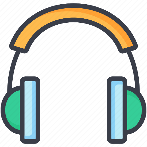 audio, earphone, headphone, listening device, sound icon