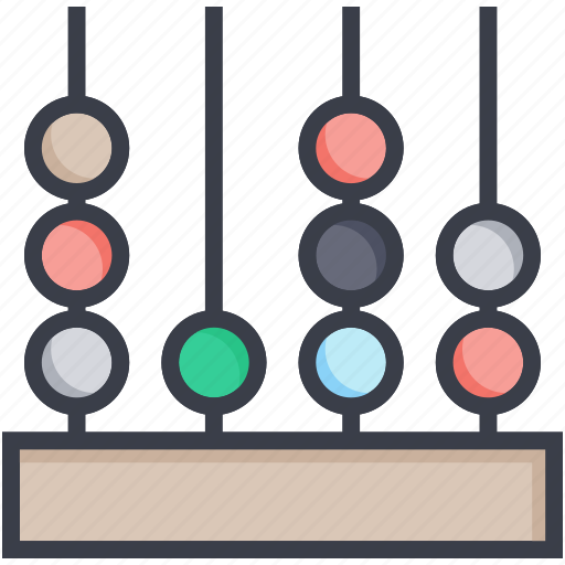 abacus, adding, calculating frame, calculator, counting frame icon