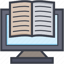 distant learning, ebook, elearning, modern education, online study icon
