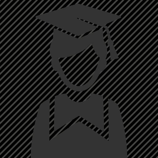 graduate, mortar board, schoolboy, student icon