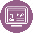 chemistry, computer, e-learning, study icon