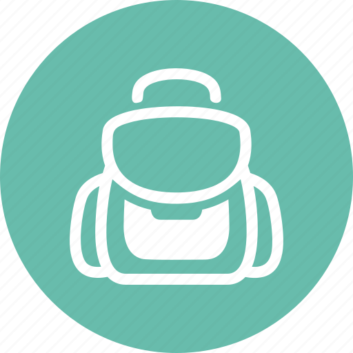 backpack, education, school bag icon