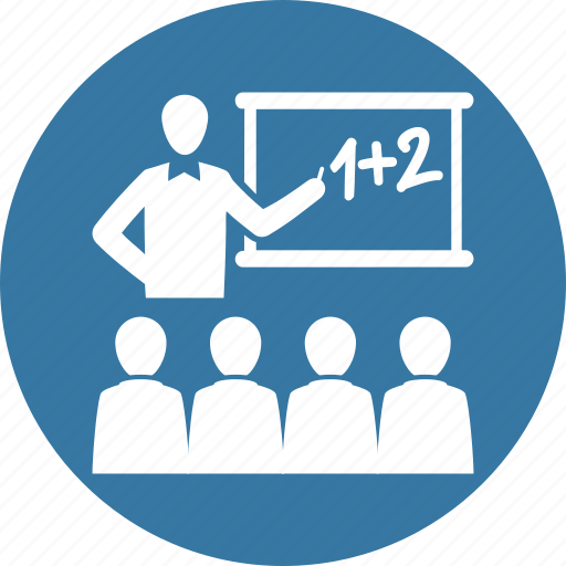 blackboard, education, students, teacher icon