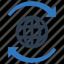communication, global, transaction icon