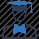 education, graduate, mortar board icon
