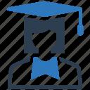 graduate, mortar board, student icon