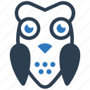 bird, owl, wisdom icon