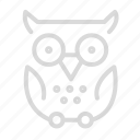 education, knowledge, owl, school icon