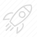 rocket, science, space, spaceship icon