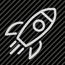 rocket, science, space, spaceship icon