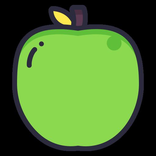 apple, fruit, school, science icon