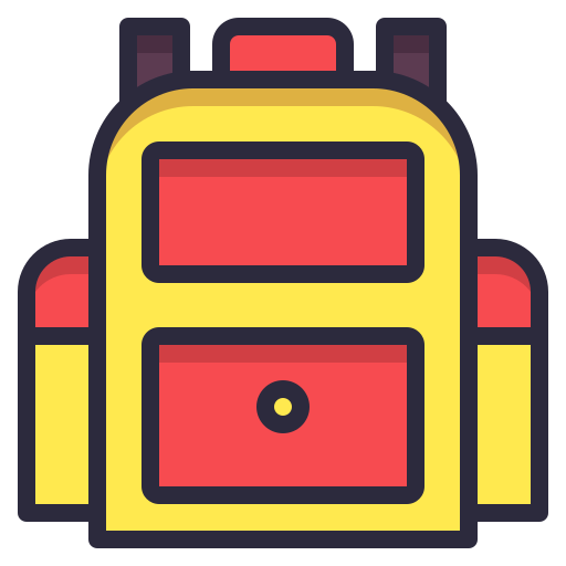 bag, container, pack, school icon