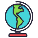 earth, geograhy, globe, planet, school icon