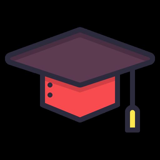academic, cap, graduation, school, square icon