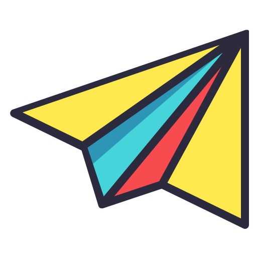 paper, plane, school, science, toy icon