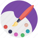 art, canvas, paint brush, paint palette, painting