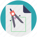 compass, drafting, geometric symbol divider tool, geometry icon