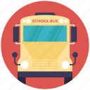 autobus, back to school, bus, school bus, transport icon