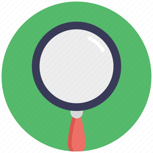 lens, magnifier, magnifying glass, search tool, zoom icon