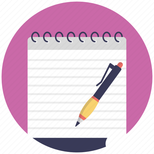 jotter, notepad, scratch pad, scribbling pad, writing pad icon