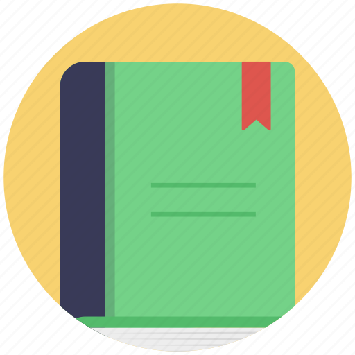 book, book with bookmark, education, knowledge, wisdom icon