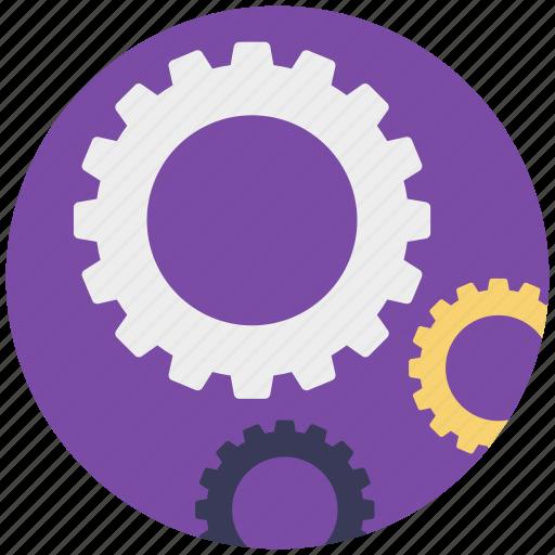 cog wheels, engineering, gear wheels, gears, mechanism icon
