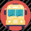 autobus, back to school, bus, school bus, transport icon