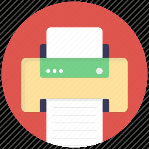 correspondent, deskjet, fax machine, output device, printer icon