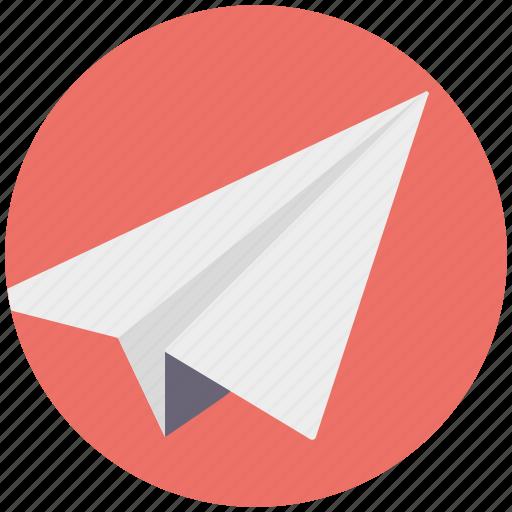 direct message symbol, flight, message sign, origami plane, paper plane icon