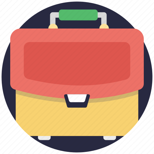 books bag, office bag, portfolio bag, school bag, student bag icon