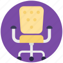 boss chair, chair, mesh chair, revolving chair, swivel chair icon
